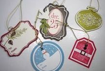Tags ~ Stampin Up / Tags til Christmas; Tags 4 You; Four Frames: Very Merry Christmas