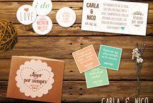 Tarjetas de boda nuestras / Tarjetas matrimonio