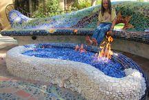 mosaico pared y exterior