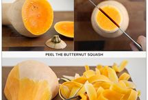 Butternut squash how to peel and cut