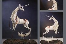 Unicorn Sculptures / Do you like what you see? Then don't forget to visit the authors of this pieces, and to follow me for more!!! :D