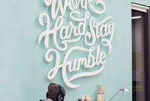 Lettering & type design / A selection of lettering and type design that inspires me