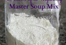 Instant soup mixes