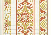 Miniature carpets in cross stitch / Miniature and doll house carpets, in cross stitching