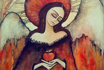 ANGELS I / anioły malarstwo
