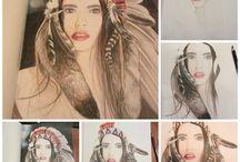 Portrait drawing People Color / Portrait drawings of people. Portrettekeningen van mensen.