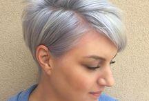 Zilvergrijze haarkleur
