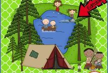 Camping Summer School Theme / All kinds of fun learning games and ideas for having a Summer Camping themed Summer School of End-of-the-Year school activities!