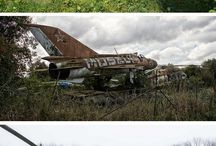 Old ruined Military Vehicles