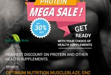 Mega sale on protein supplements upto 30% Off
