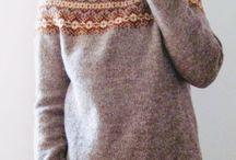 Round yoke pullovers