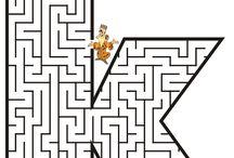 betű/ figura labirintus