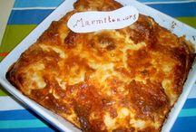 gratin,lasagne,moussaka etc ....