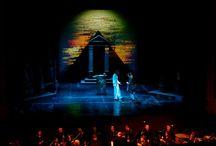 MES PROD: LA FLÛTE ENCHANTEE / IL n'y a pas que les grandes productions dans une carrière ! Il faut aussi travailler pour les productions itinérantes qui doivent s'adapter à de grandes scènes comme par exemple le Palais des Festivals à Cannes ou à l'adorable Théâtre de Douai : c'est très excitant de travailler pour les tournées.