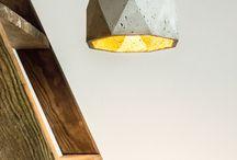 Бетонные лампы