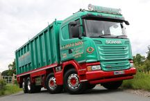Scania / A very smart 8 wheeler Scania Bulker with a set of Alcoa Dura-Bright EVO's which not only look superb but have also saved weight to.........