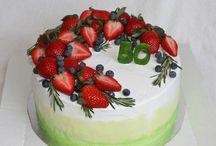 торты с фруктами
