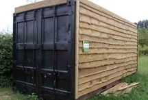 Shipping Container Sheds and Barns / Shipping container make great sheds in all shapes and sizes