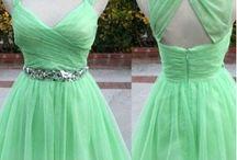 gröna klänningar