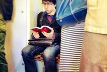 The dying art of reading / A book in the hand is better than 100 on your e-reader. That's my opinion anyway!  I photograph people reading the old school way to preserve the memory of this dying art form.