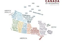 map of Canada in words