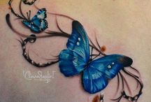 Butterfly Tattoos / http://www.tattoosideas.co.uk/butterfly-pictures.html