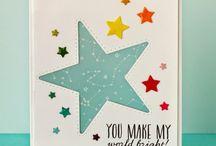 kort med stjerne