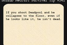 S.H.I.E.L.D Recruit Survival Tip / Tips to help you survive while your working at SHIELD! ;) / by Vincent