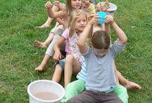 Jeux avec de l'eau