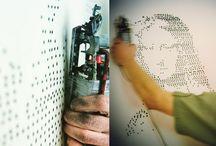 Sprayprinted diy walls