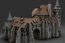miniature house castle