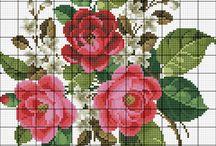 Korsstygn Blommor C 562