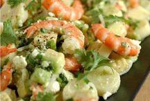 salade  de crevettes coeurs  de palmiers