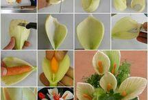 Decorațiuni legume și fructe