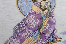 Counted cross stitches
