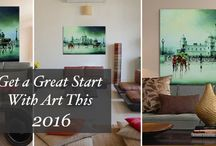 Great Start with Art in 2016 / New year, new beginnings! While the pressure to transform everything about yourself and what surrounds you can be monumental at the start of a new year, Artflute is here to tell you to take it easy. Your favourite art marketplace shows you how adding just one piece of artwork to your space is a small yet effective move if transforming your abode seems like a mammoth undertaking.