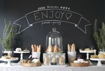 SWEETS + FOOD TABLES