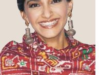 Sonam Kapoor spotted in earrings from Apala by Sumit in todays HT City, Delhi