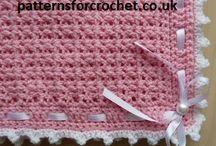 Crochet baby blankets / Pram blanket