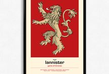 "Game Of Thrones Art / ""Winter Is Coming"" with Game Of Thrones inspired art, posters and prints"