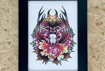 Gothic Prints / A collection of the Art we sell at Stag & Raven.  We are two best friends who are the largest sellers of Tattoo Art in the UK working with over 50 Tattoo Artists and Creatives. www.stagandraven.com