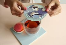 Papergoodies / Your tea will bring these paper artworks alive. Thé perfect gift for tealovers....and a must-have accessorie. Spoil your guests with lovely tea moments!