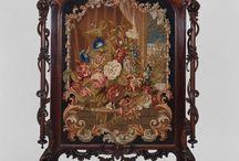 Fire screen antique