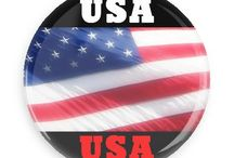 American Pride Buttons / Funny Buttons - Custom Buttons - Promotional Badges - American Pride Pins - Wacky Buttons