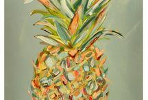 pineapple paintings art