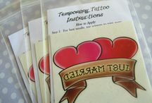 Wedding Temporary Tattoos / The best of the best of Buttonhead custom wedding favor temporary tattoos!