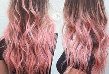 Włosy różowe