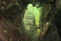 Concept Art - Environments / Environments concepts for games and movies