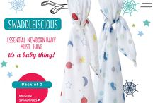 Muslin Swaddles - It's a newborn baby essential must-have item! / Piccalilly's organic cotton muslin swaddling blanket is the original large swaddling wrap. Our muslin swaddles are single layered, making them lightweight and breathable an essential characteristic. They're a newborn baby essential and using a muslin blanket to swaddle a newborn makes it feel snug and secure, like in mummy's tummy. Our large muslins measure 120x120cm and this multifunctional newborn baby essential item can be used as a nursing cover, a burp cloth, and a baby comforter too!  .