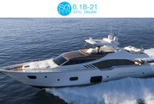 SO! DALIAN 2015 / SO! DALIAN is the first international Yachting and Lifestyle Rendezvous in the North of China. Held from 18th to 21st June, Ferretti Group is using the show as an opportunity to showcase the Ferretti Yachts 870 (Boot G10-G11, Bart Y107, East Port Marina, Dalian, China)